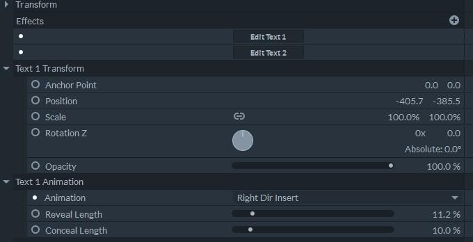 FilmoraPro Text Adjustment
