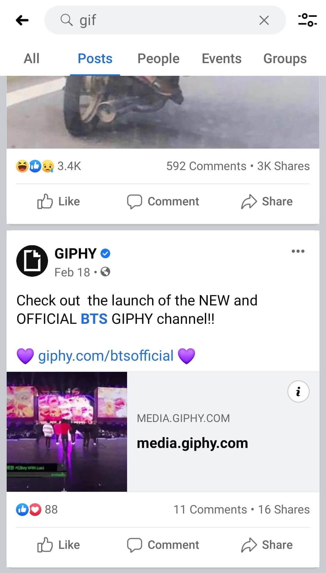find gif on facebook app