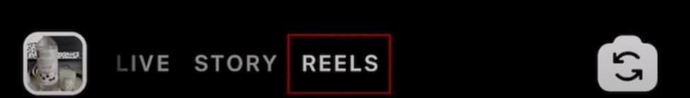 find reels option