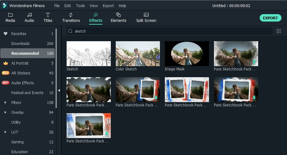 add anime filter to video in Filmora