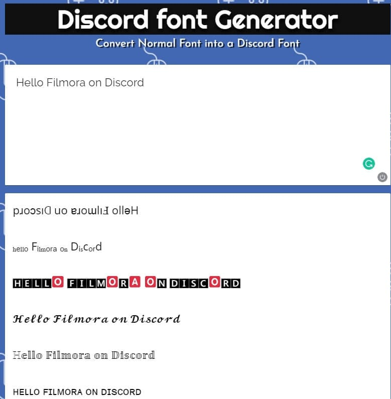 Discord Font Generator Font Fontvilla