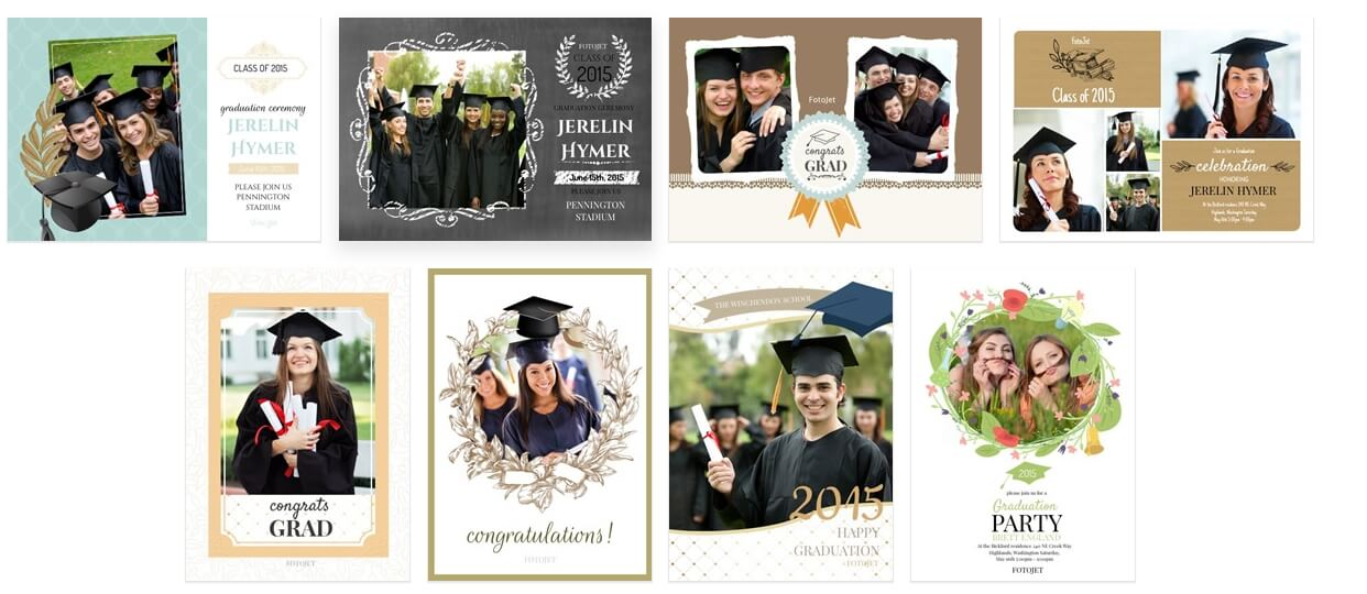 Online Graduation Photo Collage Maker