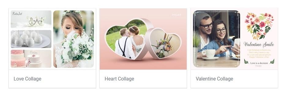 Fotojet online Kollagen-Ersteller