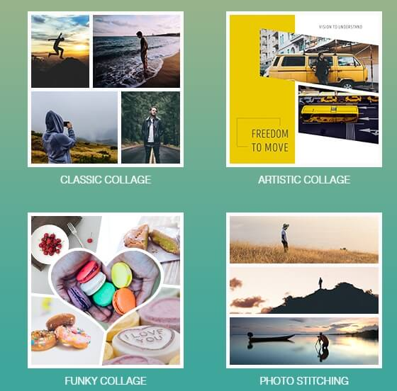 Fotor online photo  Collage maker templates