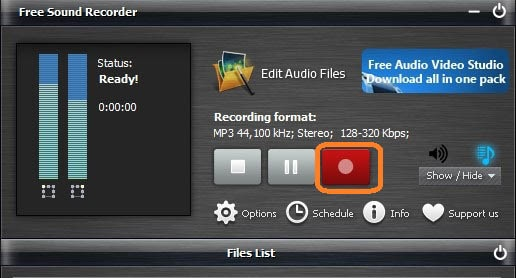 Record Discord Audio using Free Sound Recorder
