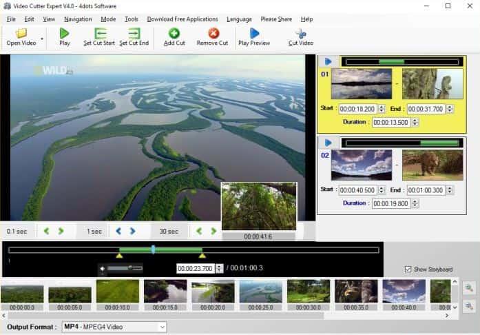 mp4视频剪辑软件free video cutter expert