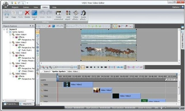 Video Editor gratis terbaik tanpa Watermark - VSDC video editor