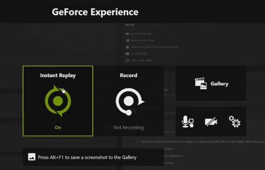nvidia geforce experience recording