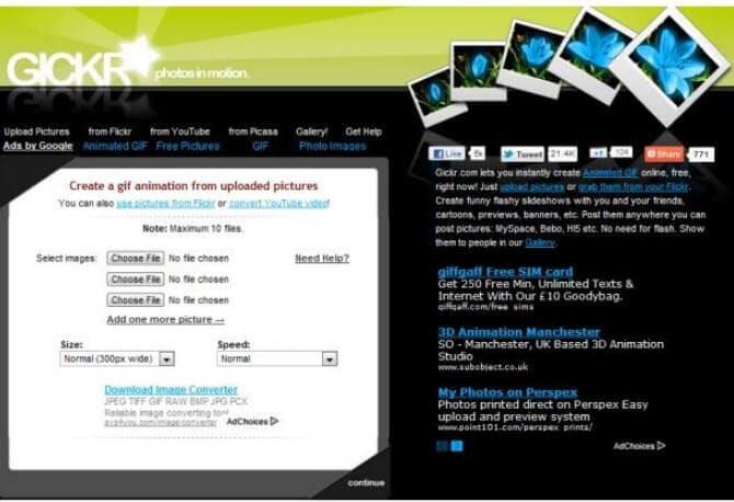 gесли производитель онлайн Gickr