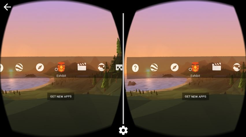 Google Cardboard app screenshot