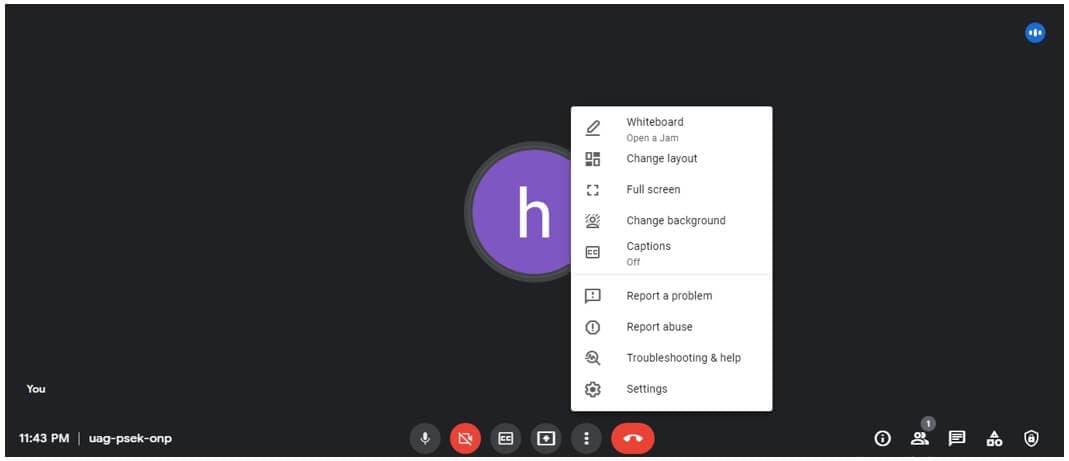 Google Meet change layout