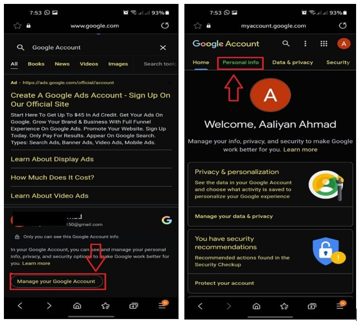 Change Google Meet Name on Android