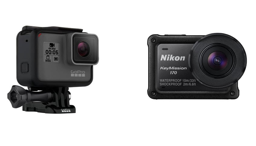 gopro hero5 black vs nikon keymission 170