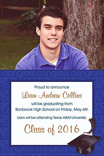 graduation invitation partycity