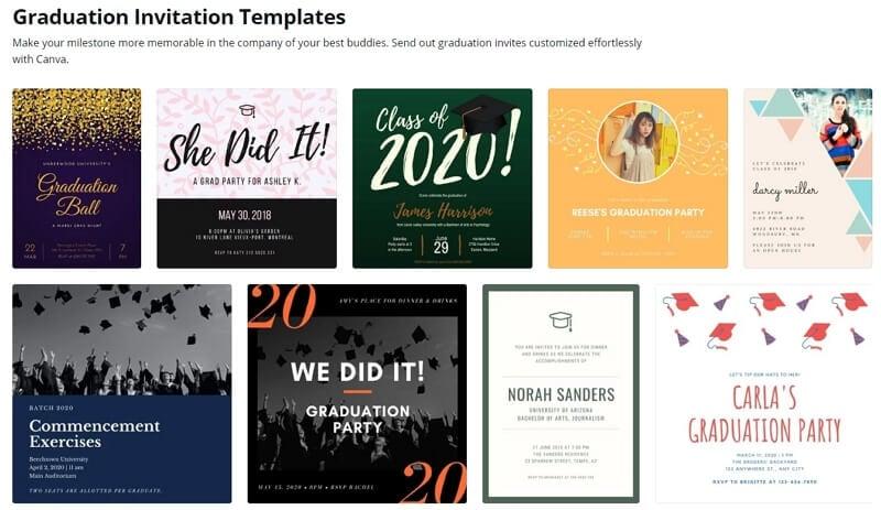 Canva Graduation Party Invitation Template