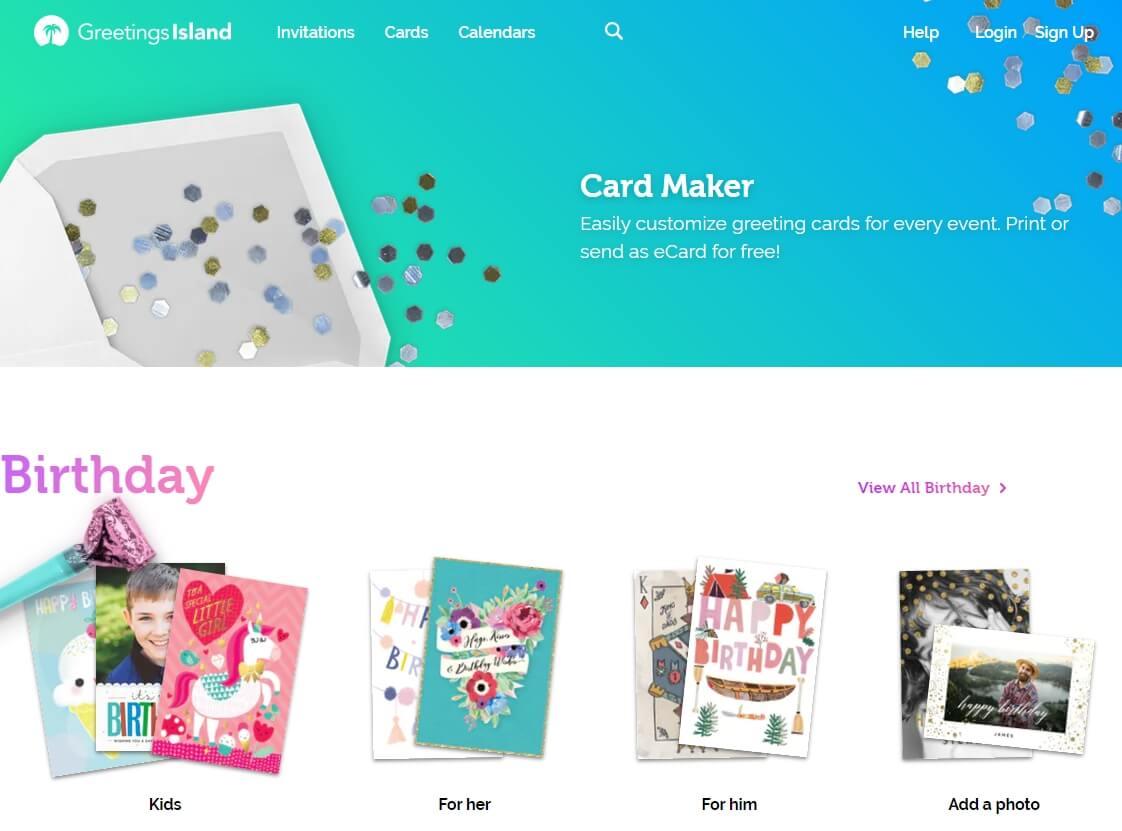 best online birthday ecard maker - Greetings Island