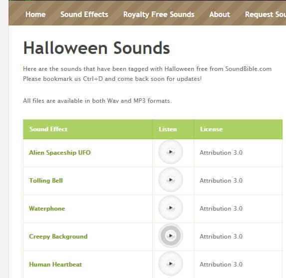 Halloween Sound Effect from Soundible
