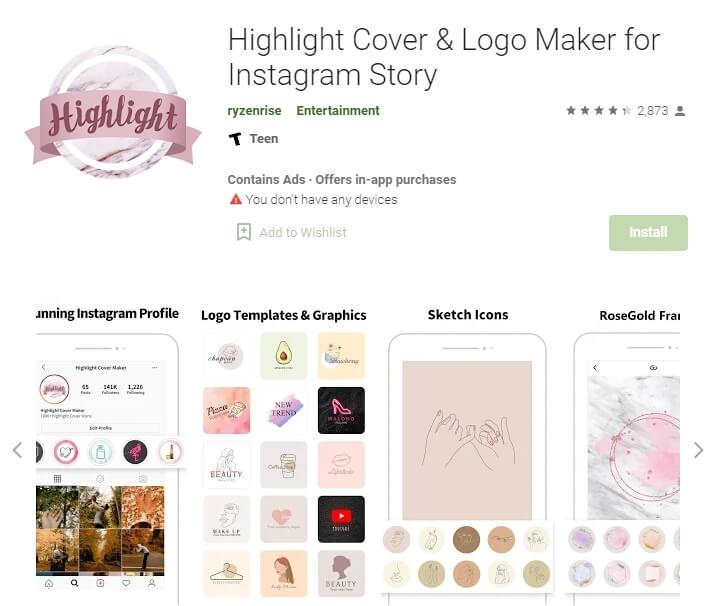 Highlight Cover Maker for Instagram Story Highlights