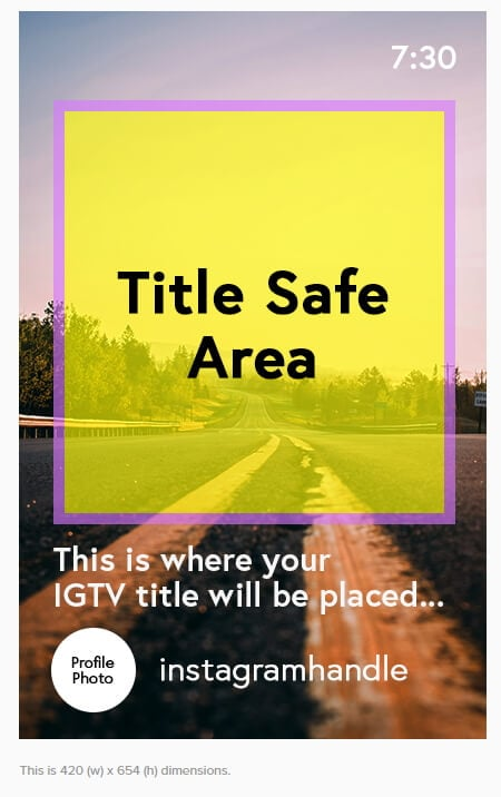 IGTV Cover Photo Safe Zone