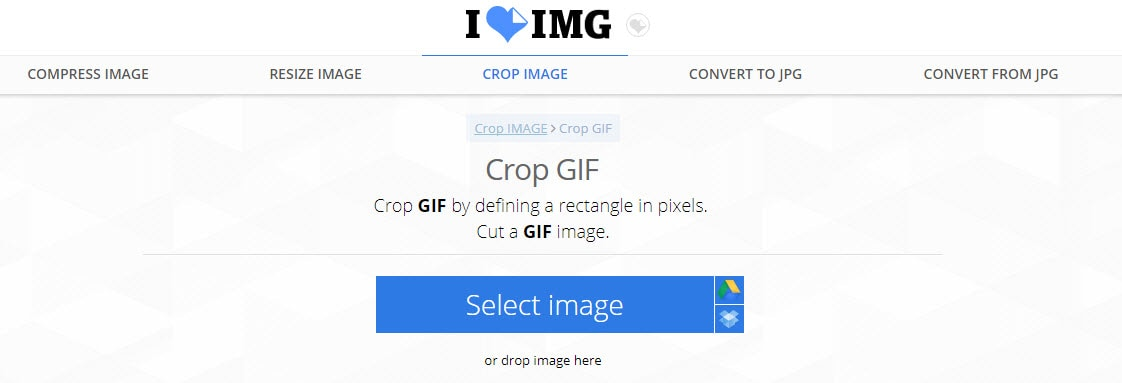 crop gif with filmora