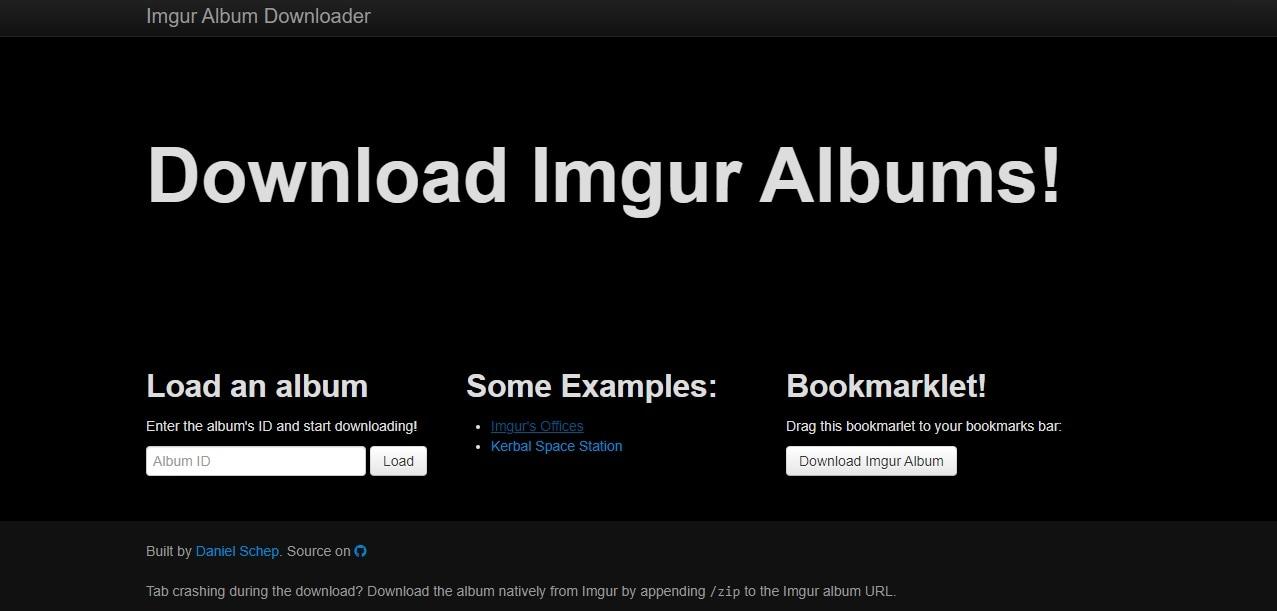 Imgur Downloader Dschep