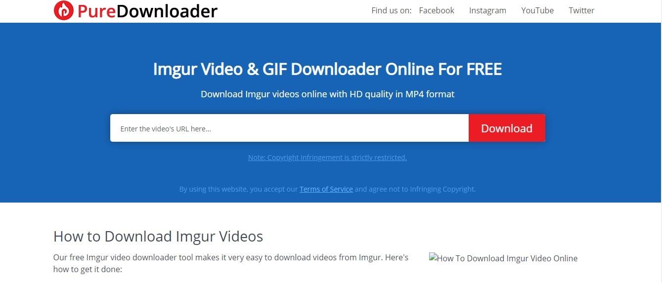 Imgur Downloader Puredownloader