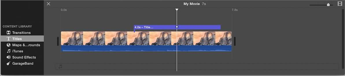 iMovie add text