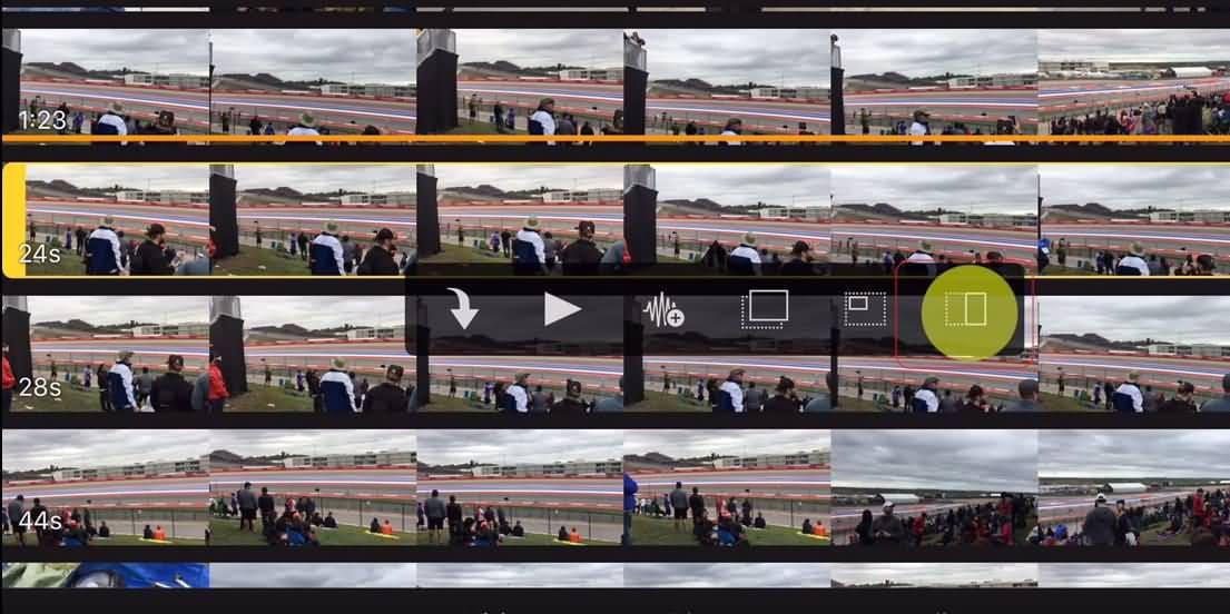 iMovie App Side by Side Screen