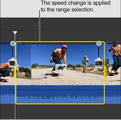 iMovie part of clip Speed change