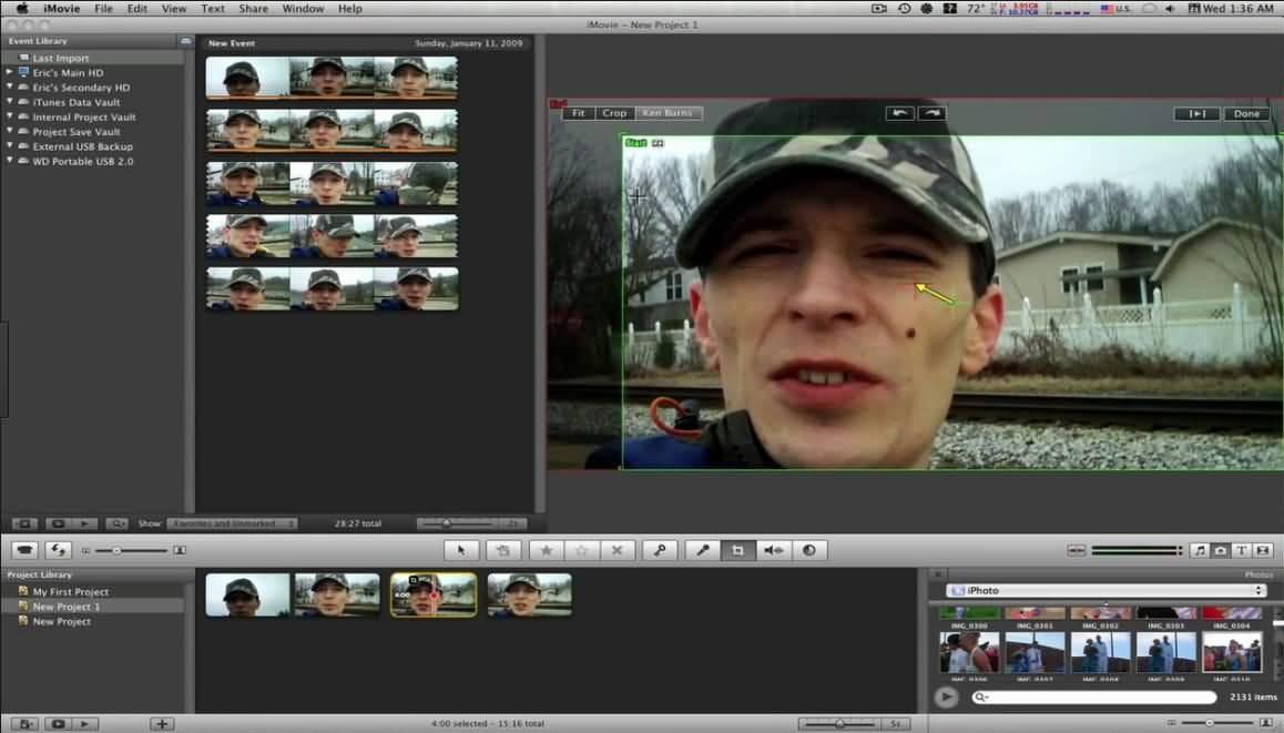 iMovie Pan Zoom