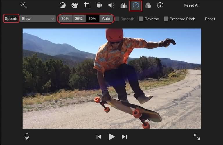 iMovie Speed Control