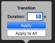 iMovie Transitions