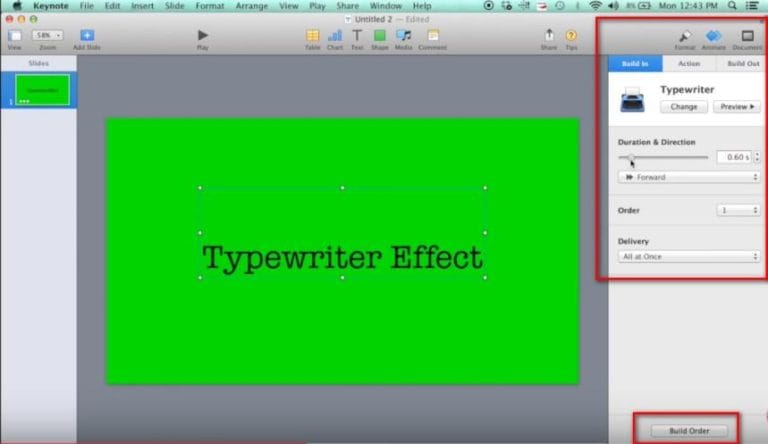 Typerwriter Effects for iMovie made with Keynote