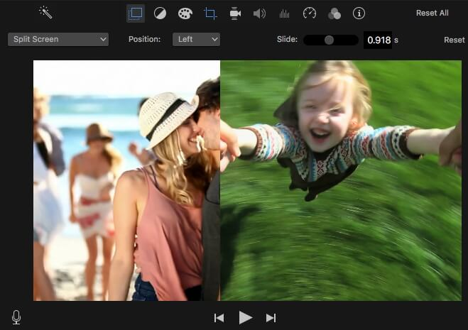iMovie Split Screen