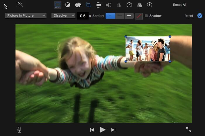 imovie picture in picture effects