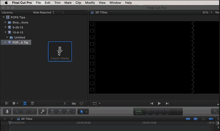 Import YouTube videos in FCP