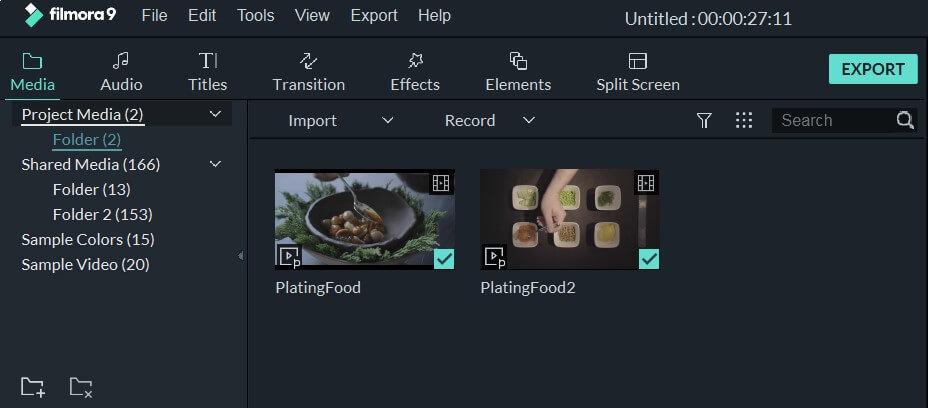 import recipe videos