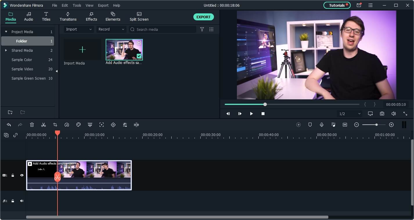 add video to Filmora