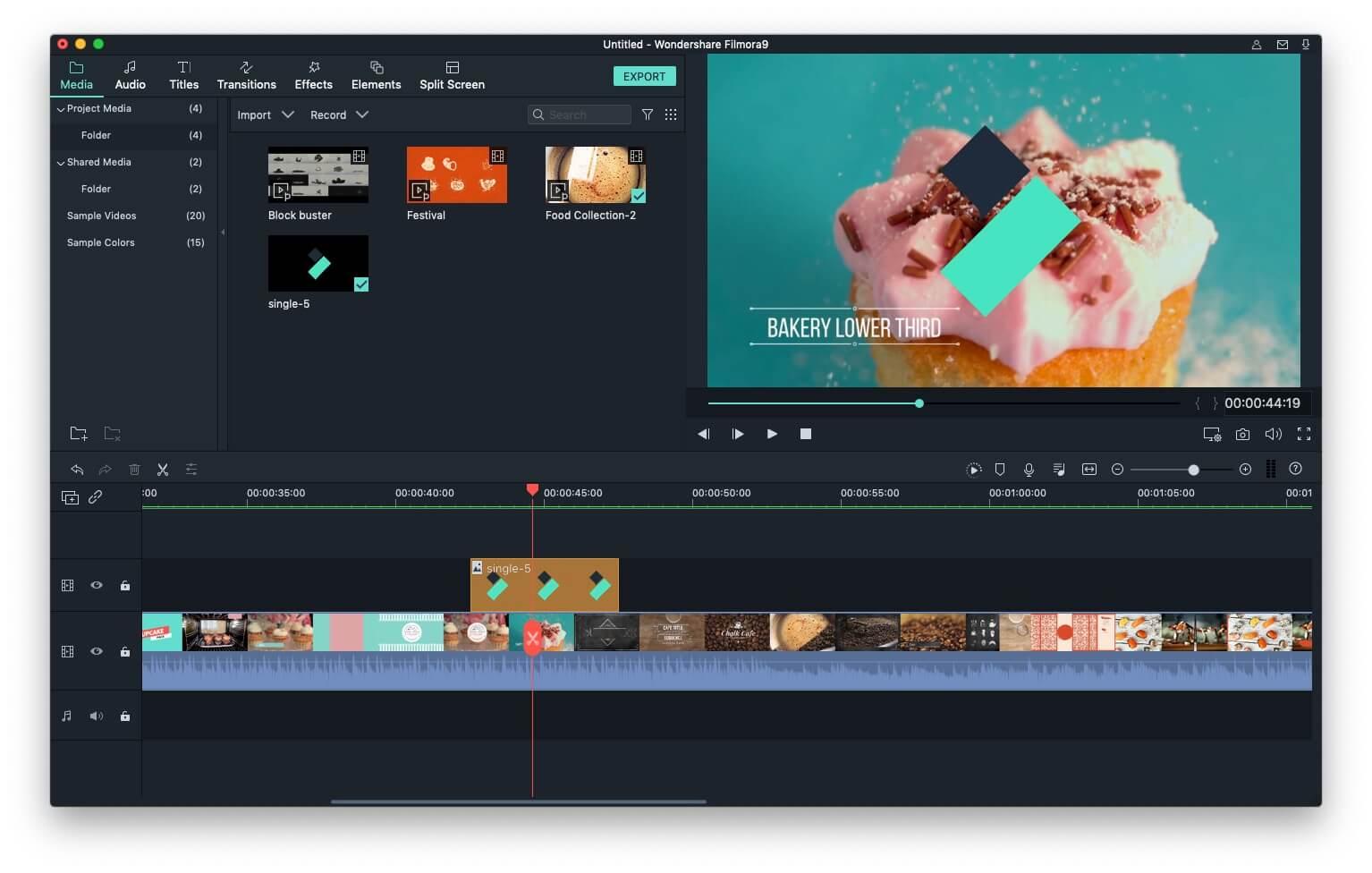 add watermark & video in Filmora