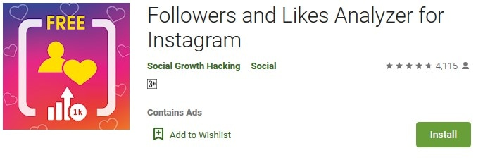 Followers and Likes Analyzer For Instagram