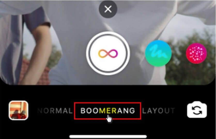 create slow motion video on instagram - boomerang