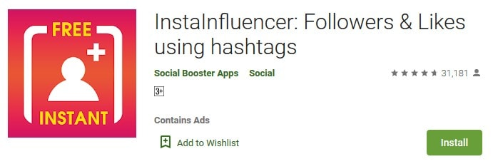 InstaInfluencer get followers by hashtags