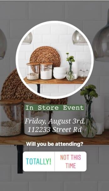 Instagram highlight promote event