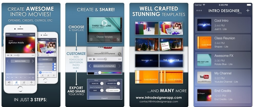 Intro Designer Lite &  Create Intros for iMovie