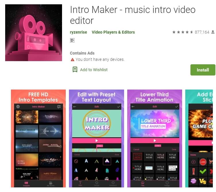 Into Maker – Music Intro Video Editor