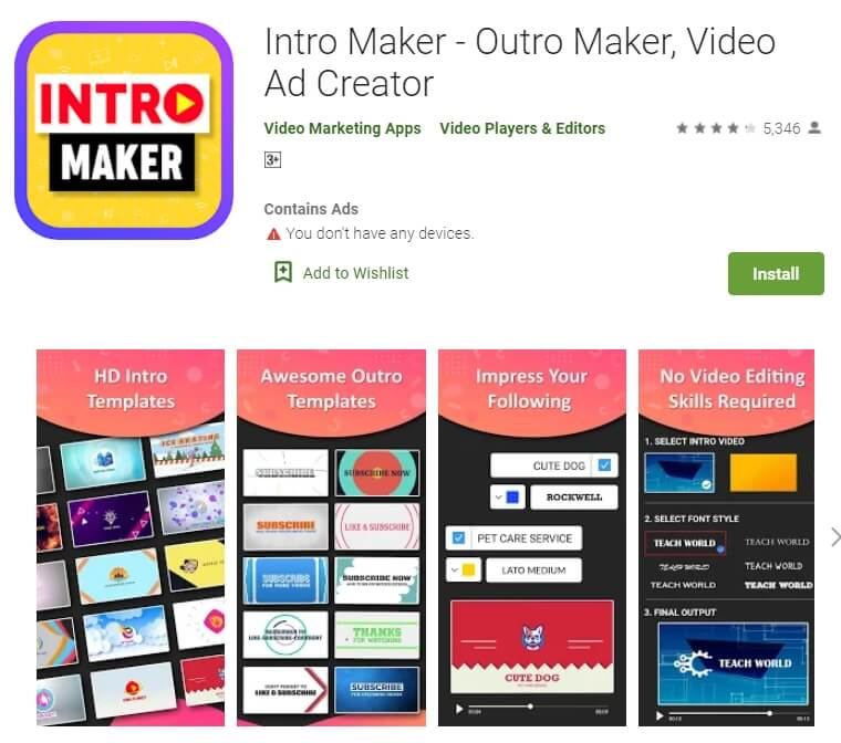 Intro maker for Android