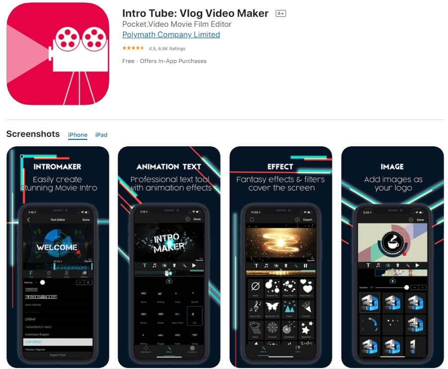Intro Tube: Vlog Video Maker