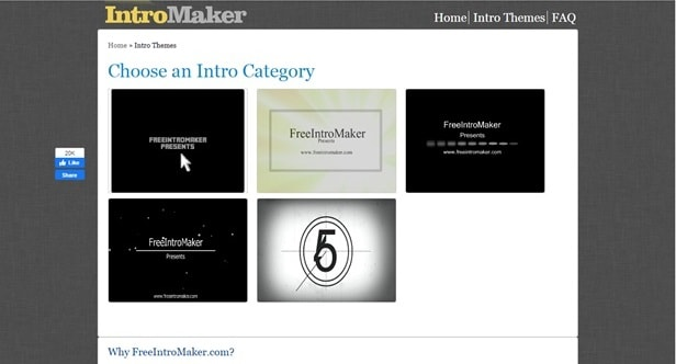 online free outro maker interface