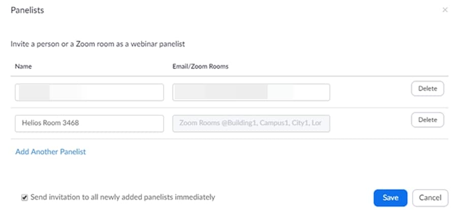 Invite people to Zoom Webinar