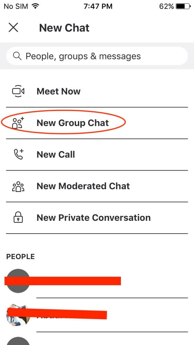 iphone new group